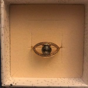 Celine Daoust Rose Gold & Diamond Evil Eye Ring